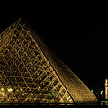 The Louvre Pyramid And The Arc De Triomphe Du Carrousel At Night by Sami Sarkis