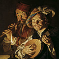 The Lutenist And The Flautist by Matthias Stom