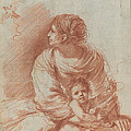 The Madonna And Child With An Escaped Goldfinch by Giovanni Francesco Barbieri, Called Guercino