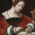 The Magdalene Writing A Letter by The Master of the Female Half-lengths