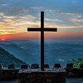 The Magnificent Cross Pretty Place Chapel Greenville Sc Great Smoky Mountains Art by Reid Callaway