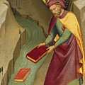 The Magus Hermogenes Casting His Magic Books Into The Water by Lorenzo Monaco