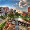 The Main Attraction Reedy River Greenville South Carolina Art by Reid Callaway