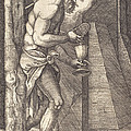 The Man Of Sorrows At The Foot Of The Cross by Sebald Beham