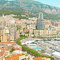 The Marina In Monaco by Marek Poplawski