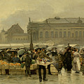 The Market In Antwerp by Emile Claus