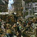 The Market Of Verona by Adolph Friedrich Erdmann von Menzel