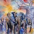 The Masai Mara Elephants by William Mutua