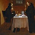 The Meal Of Saint Benedict Of Nurcia by Juan Ricci