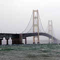The Mighty Mackinaw Bridge Stands Strong by Scott Heister