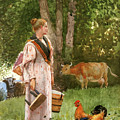 The Milk Maid By Winslow Homer 1878 by Movie Poster Prints