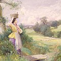 The Milkmaid by Myles Birket Foster