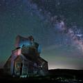 The Milky Way Rises Over An Abandoned Grain Elevator by Matt Shiffler