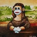 The Monkey Lisa by Scott White