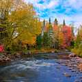 The Moose River On A Beautiful Fall Day by David Patterson