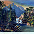 The Mountain Pass - Sierra Nevada by Currier and Ives - Joy of Life Art