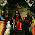 The Mystic Marriage Of St Catherine Of Siena With Saints by Fra Bartolommeo - Baccio della Porta