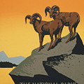 The National Parks Preserve Wild Life Vintage Travel Poster by R Muirhead Art