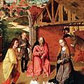 The Nativity By Gerard David  by Munir Alawi