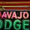 The Navajo Lodge Sign In Prescott Arizona by David Patterson