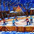 The Neighborhood Hockey Rink by Carole Spandau
