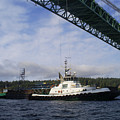The New Tacoma Narrows Bridge - Foss Tug by Alan Espasandin
