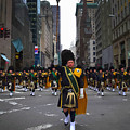 The New York City Police Emerald Society Pipe And Drum Corps by Don Kuing