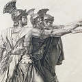 The Oath Of The Horatii, Detail Of The Horatii  by Jacques Louis David