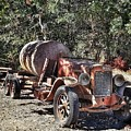The Old Jalopy In Wine Country, California  by Mary Capriole