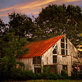 The Old Lowdermilk Barn - Red Roof Barn Rustic Country Rural Antique by Jon Holiday