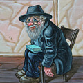 The Old Man Near The Western Wall by Victor Molev