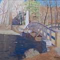 The Old North Bridge In Concord Ma by William Demboski