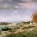 The Old Quay At Bercy by Jean Baptiste Armand Guillaumin