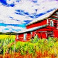 The Old Red Barn by Don Barrett