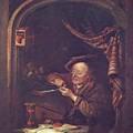 The Old Schoolmaster 1671 by Dou Gerrit