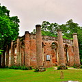 The Old Sheldon Church Ruins 3 by Lisa Wooten