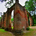 The Old Sheldon Church Ruins 4 by Lisa Wooten