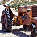 The Old Yellow Farm Tractor by Gene Parks