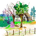 The Ole House In Spring by Debbi Saccomanno Chan