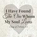 The One Whom My Sould Loves- Art By Linda Woods by Linda Woods
