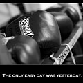 The Only Easy Day Was Yesterday In Black And White by Angela Rath
