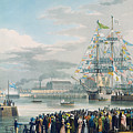 The Opening Of Saint Katharine Docks by Edward Duncan