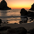 The Orange Glow At Whaleshead by John Daly