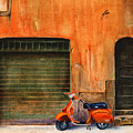 The Orange Vespa by Karen Fleschler