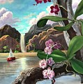 The Orchids And The Sailboat by Randy Burns