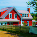 The Other Red House Monhegan by Jeff Cooper