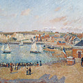 The Outer Harbour At Dieppe by Camille Pissarro