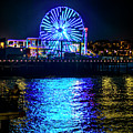 The Pacific Wheel In Blue by Gene Parks