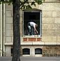 The Painter In The Window by Bernd Billmayer