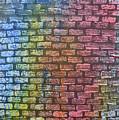 The Painted Brick Wall  by Zilpa Van der Gragt